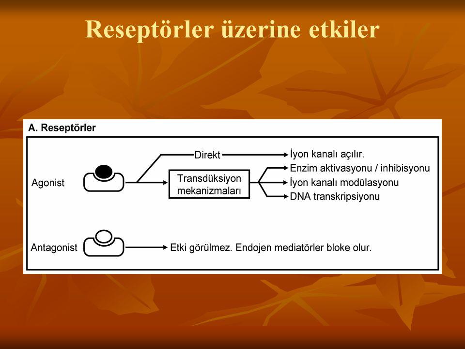 Reseptörler üzerine etkiler