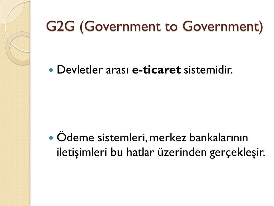 G2G (Government to Government)
