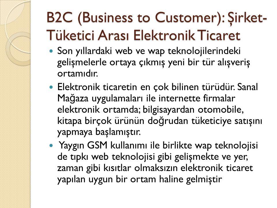 B2C (Business to Customer): Şirket-Tüketici Arası Elektronik Ticaret
