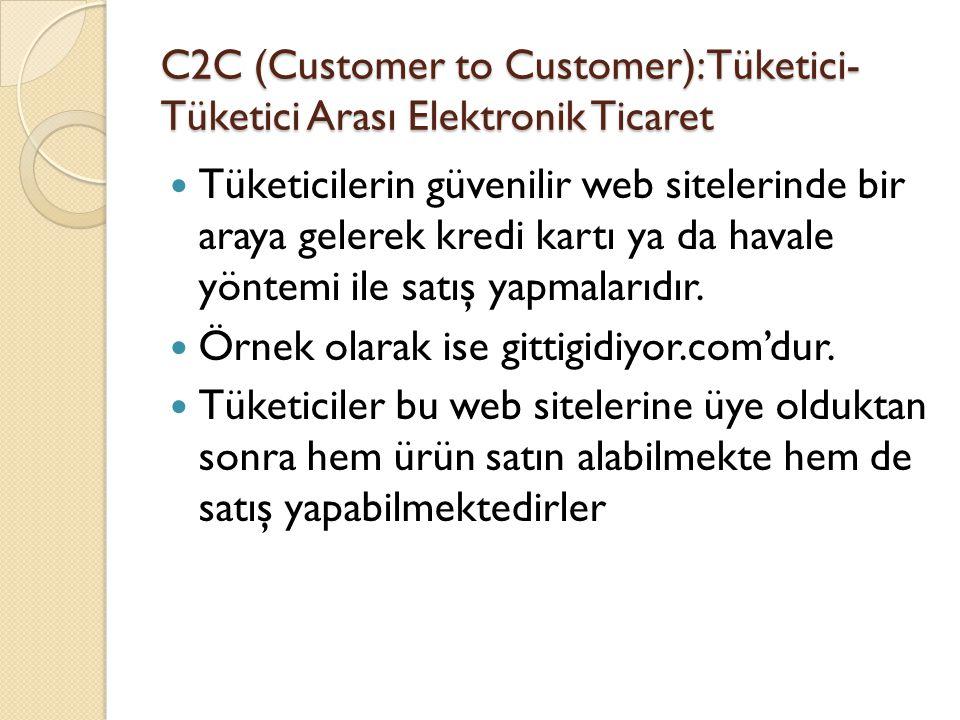 C2C (Customer to Customer): Tüketici-Tüketici Arası Elektronik Ticaret