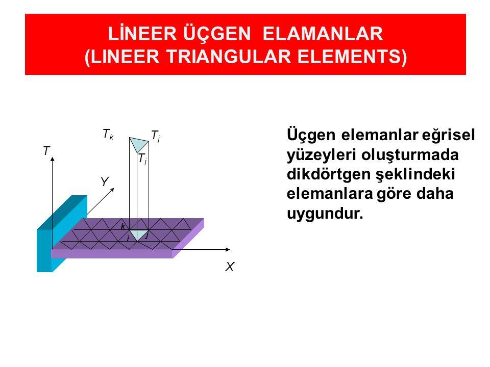 LİNEER ÜÇGEN ELAMANLAR (LINEER TRIANGULAR ELEMENTS)