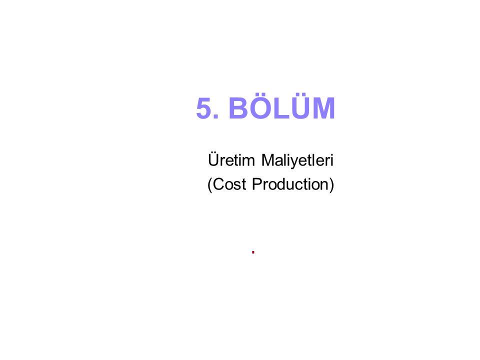 Üretim Maliyetleri (Cost Production)