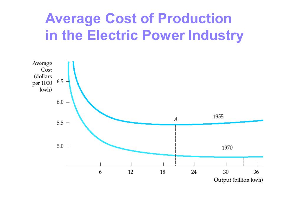 Average Cost of Production in the Electric Power Industry