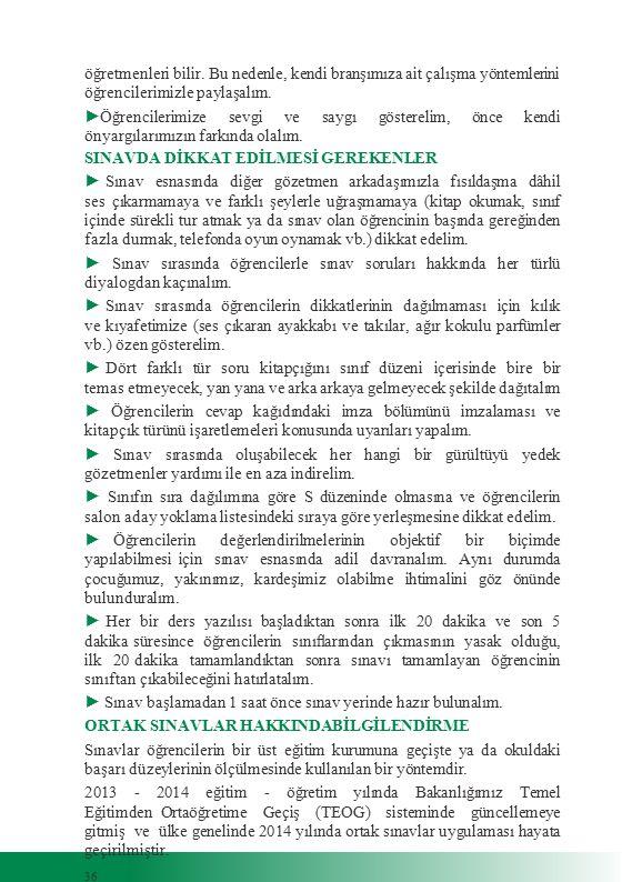 SINAVDA DİKKAT EDİLMESİ GEREKENLER
