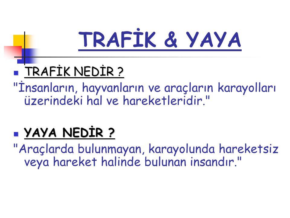 TRAFİK & YAYA TRAFİK NEDİR