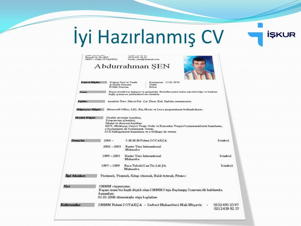 İyi Hazırlanmış CV