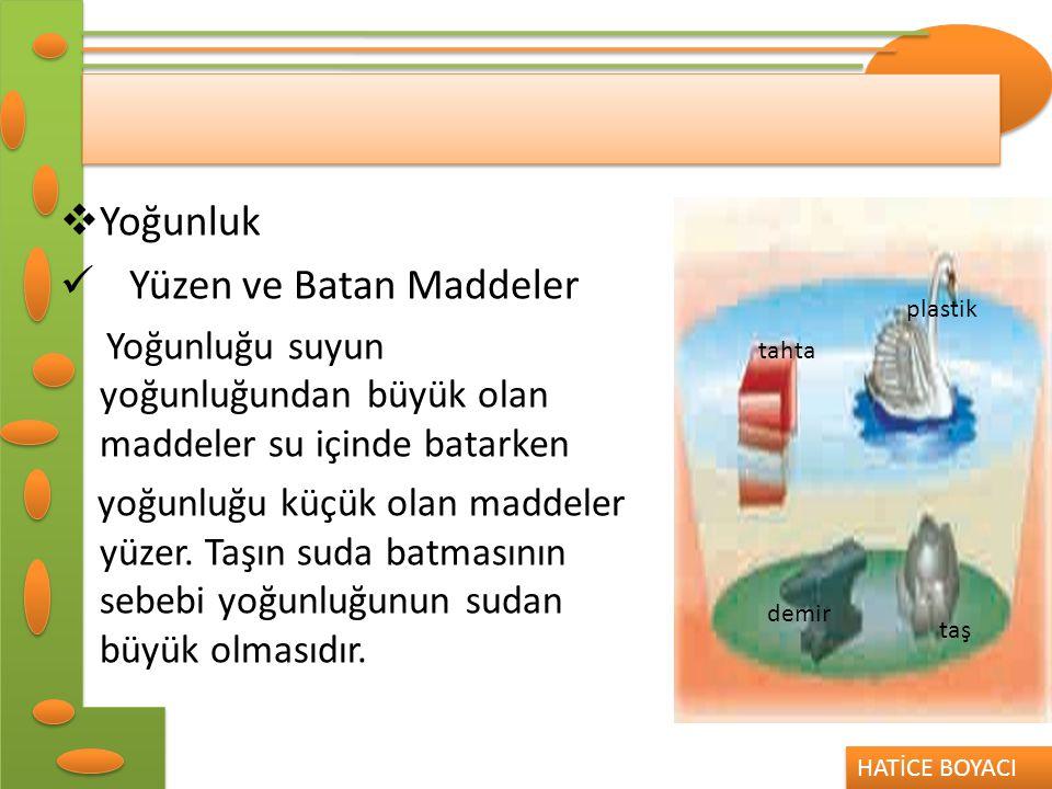 Yüzen ve Batan Maddeler
