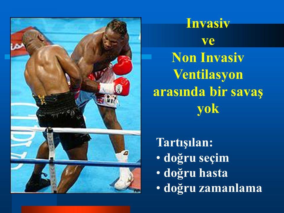 Non Invasiv Ventilasyon arasında bir savaş yok