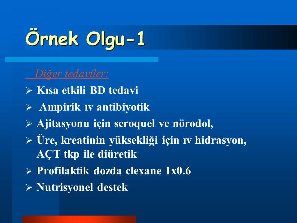 Örnek Olgu-1 Diğer tedaviler: Kısa etkili BD tedavi