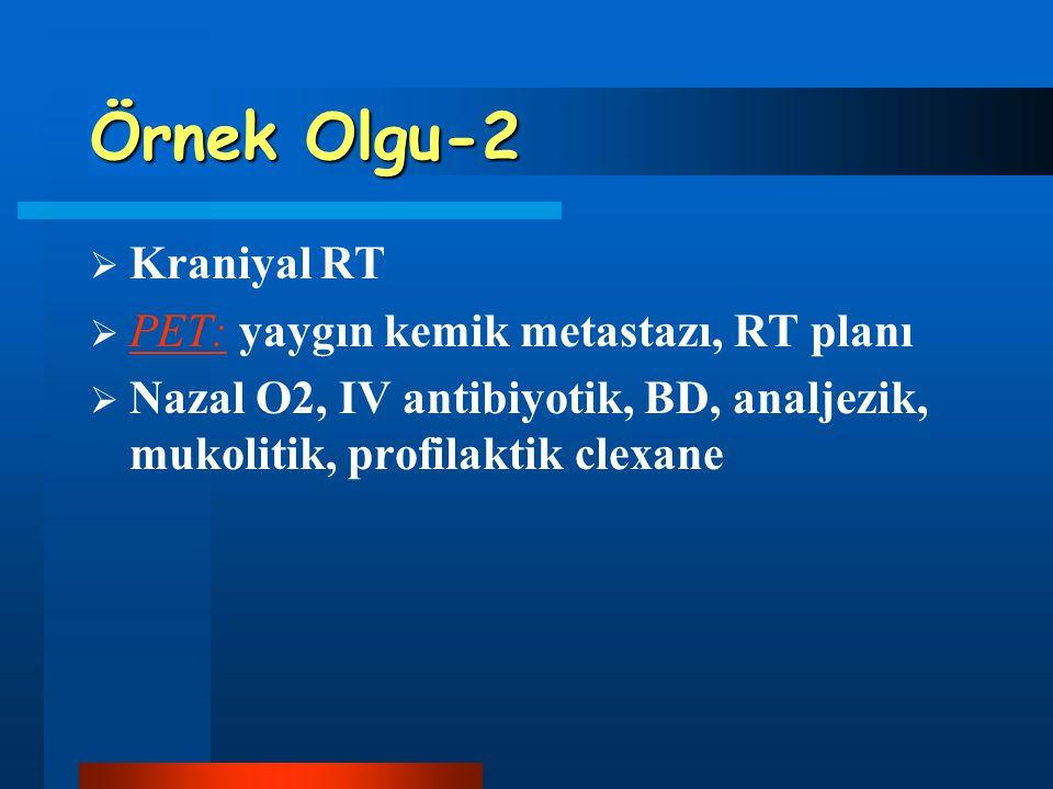 Örnek Olgu-2 Kraniyal RT PET: yaygın kemik metastazı, RT planı