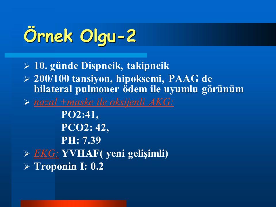 Örnek Olgu-2 10. günde Dispneik, takipneik