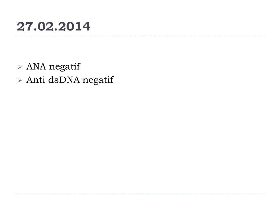 27.02.2014 ANA negatif Anti dsDNA negatif