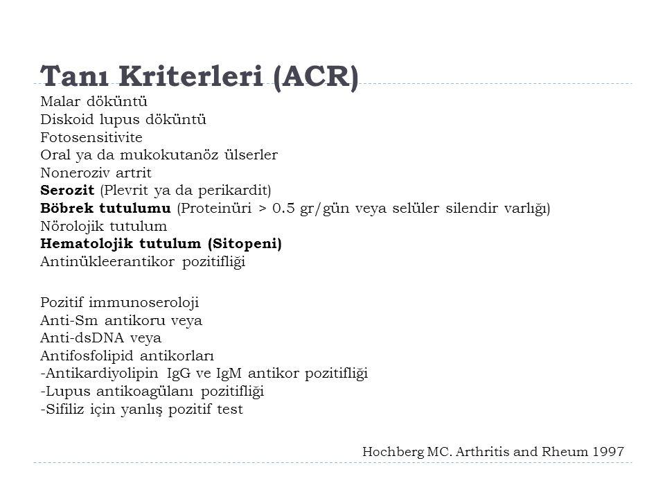 Tanı Kriterleri (ACR)
