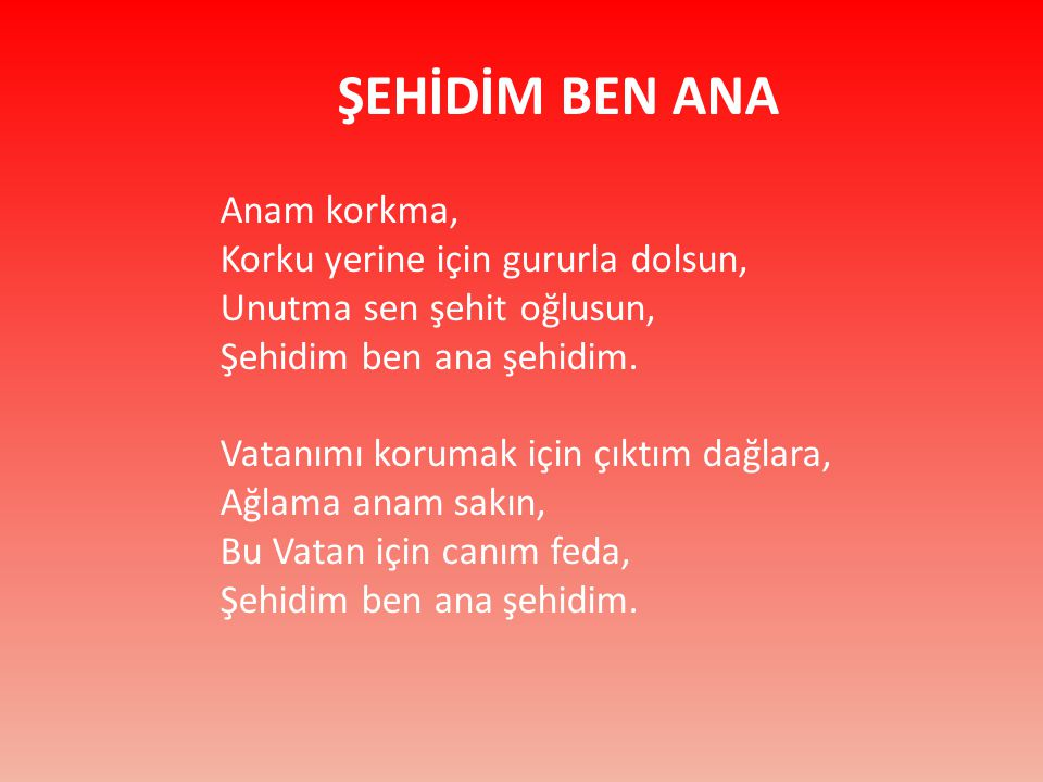 ŞEHİDİM BEN ANA