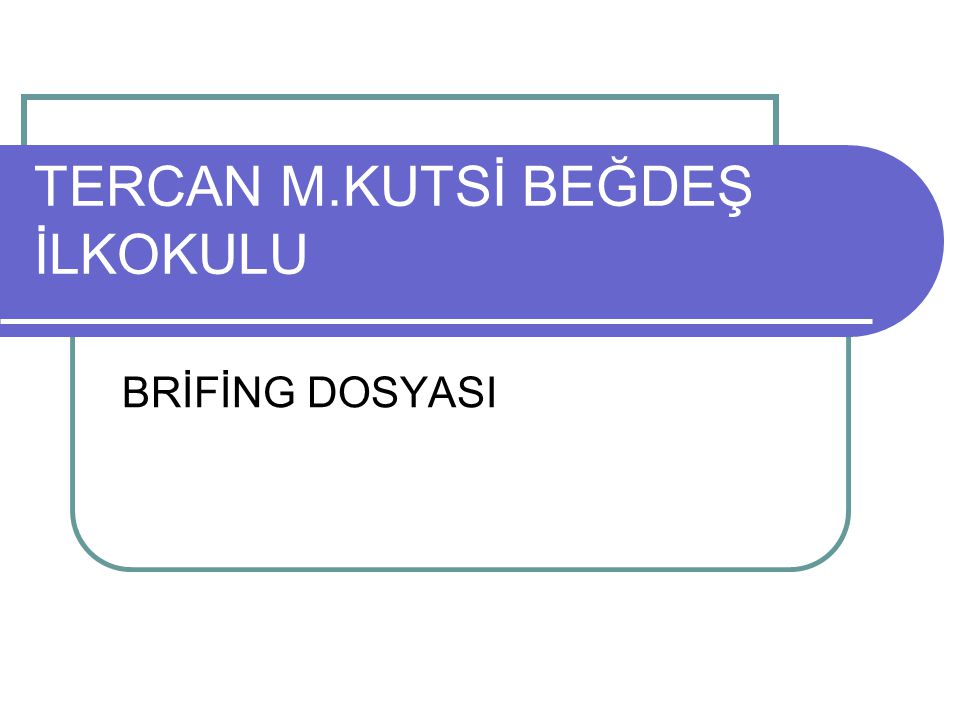 TERCAN M.KUTSİ BEĞDEŞ İLKOKULU