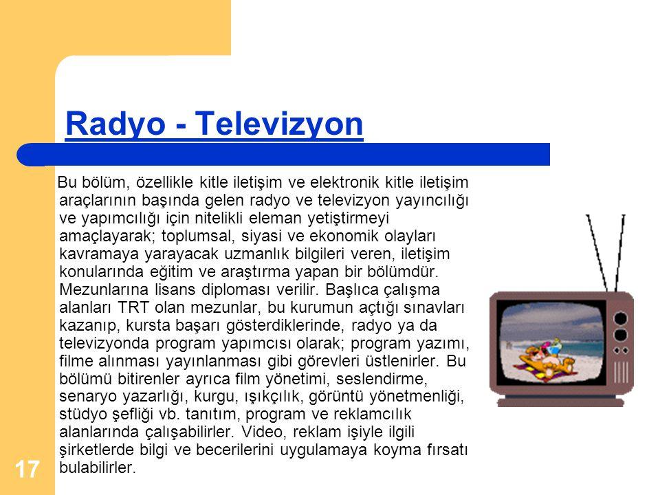 Radyo - Televizyon