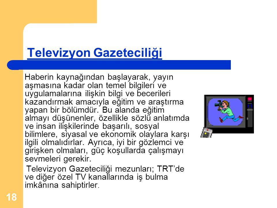 Televizyon Gazeteciliği