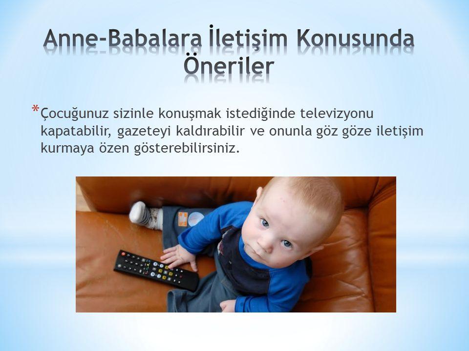 Anne-Babalara İletişim Konusunda Öneriler