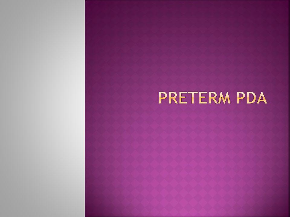 Preterm PDA