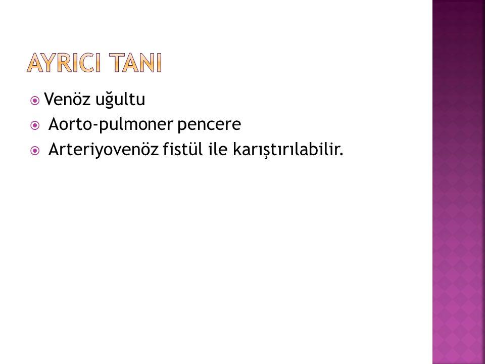 AyrIcI TanI Venöz uğultu Aorto-pulmoner pencere