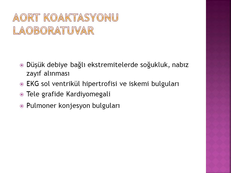 Aort Koaktasyonu Laoboratuvar