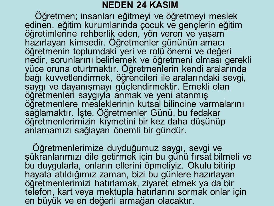 NEDEN 24 KASIM