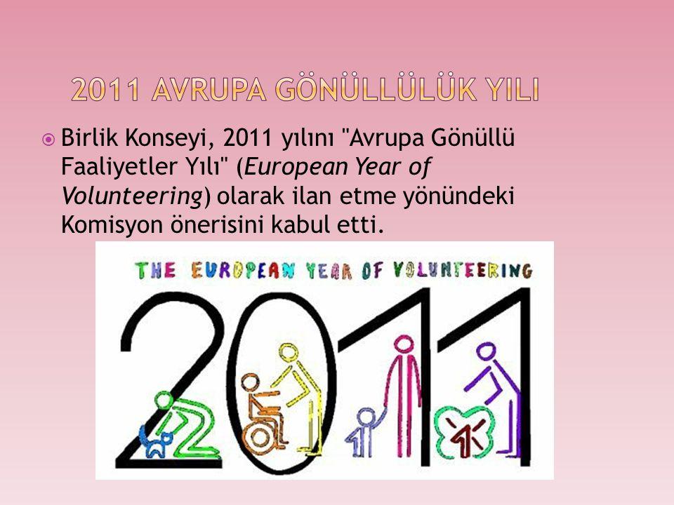 2011 AVRUPA GÖNÜLLÜlük YILI