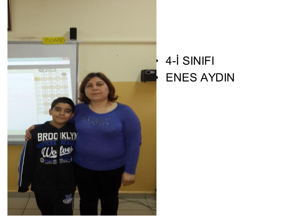 4-İ SINIFI ENES AYDIN