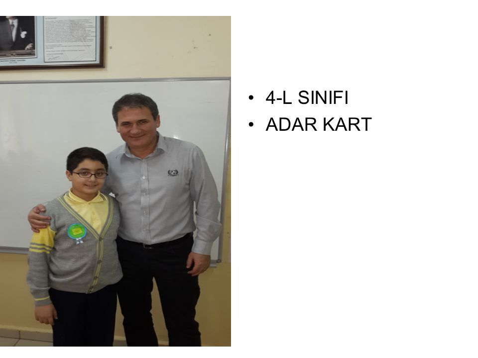 4-L SINIFI ADAR KART