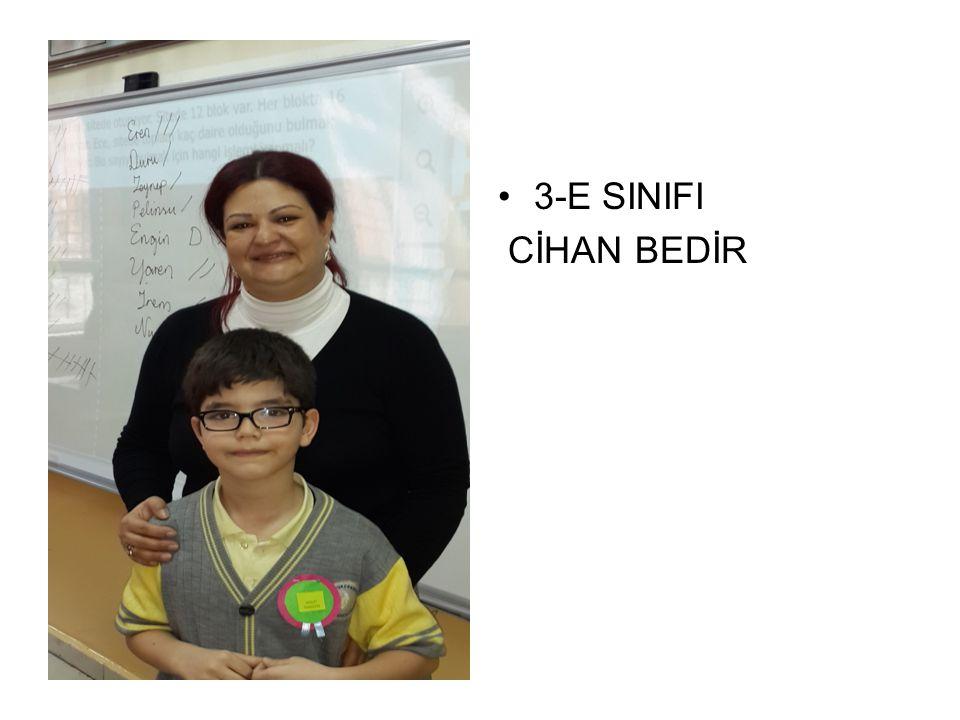 3-E SINIFI CİHAN BEDİR