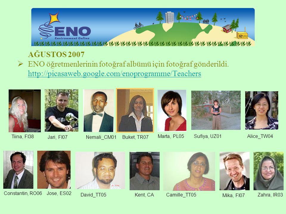 ENO öğretmenlerinin fotoğraf albümü için fotoğraf gönderildi.