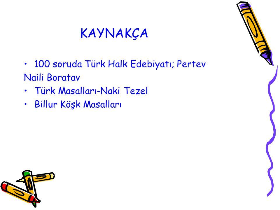 KAYNAKÇA 100 soruda Türk Halk Edebiyatı; Pertev Naili Boratav