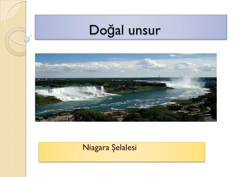 Doğal unsur Niagara Şelalesi
