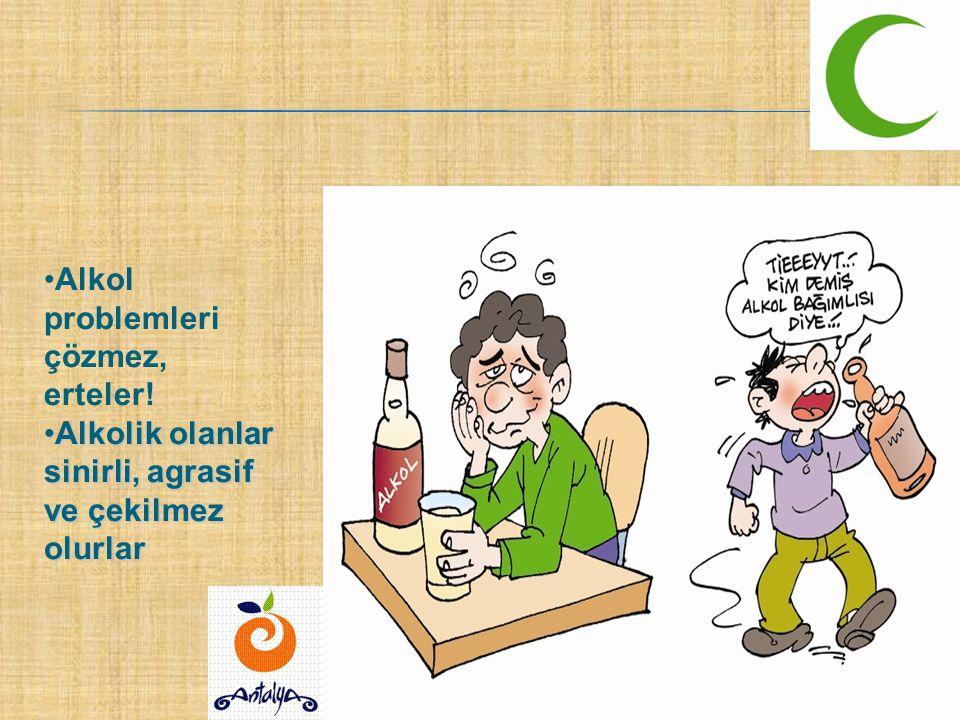 Alkol problemleri çözmez, erteler!