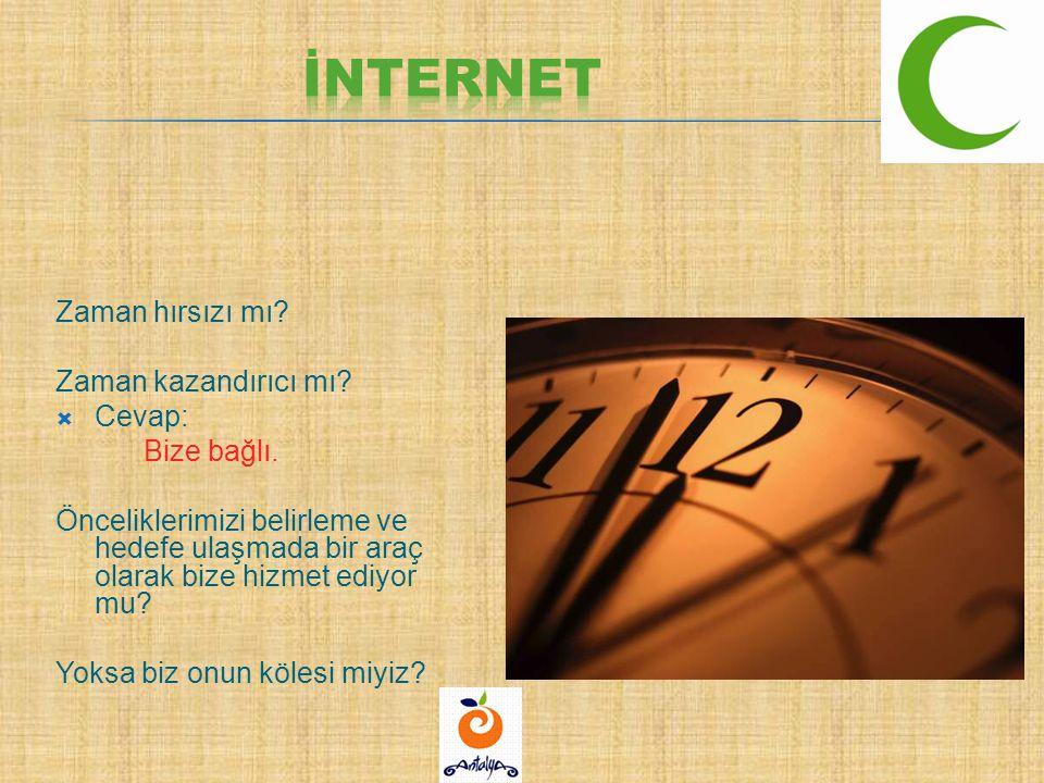 İnternet Zaman hırsızı mı Zaman kazandırıcı mı Cevap: Bize bağlı.