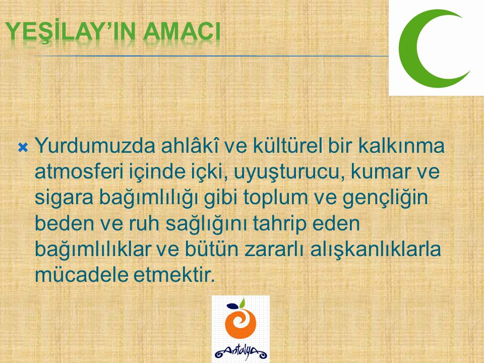 YEŞİLAY'IN AMACI 14.04.2017.