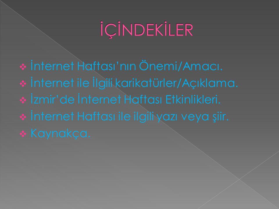 İÇİNDEKİLER İnternet Haftası'nın Önemi/Amacı.