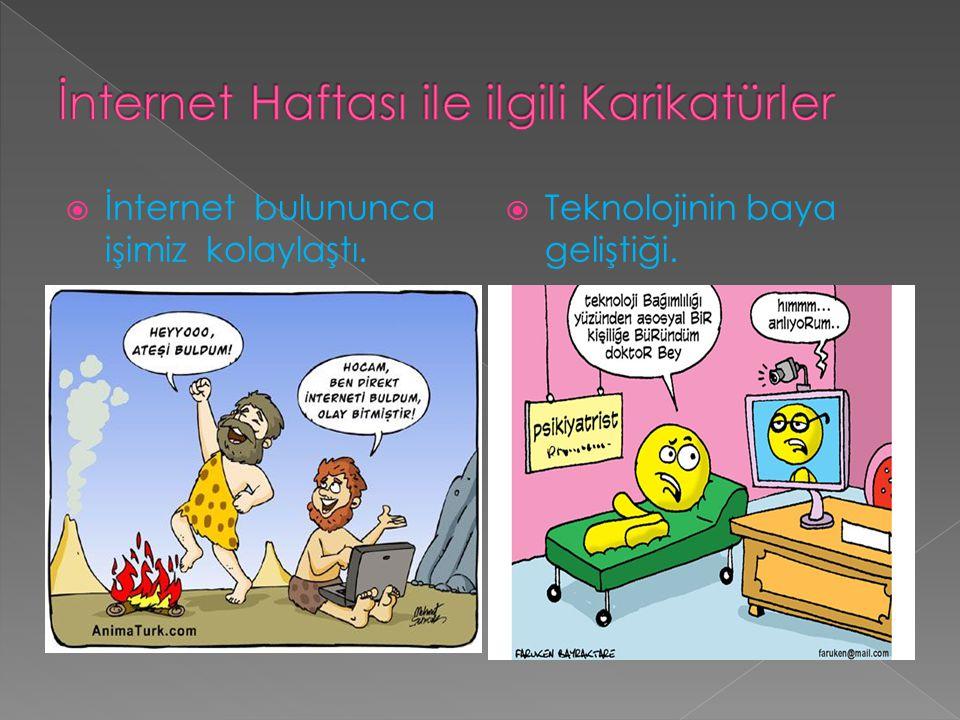 İnternet Haftası ile ilgili Karikatürler