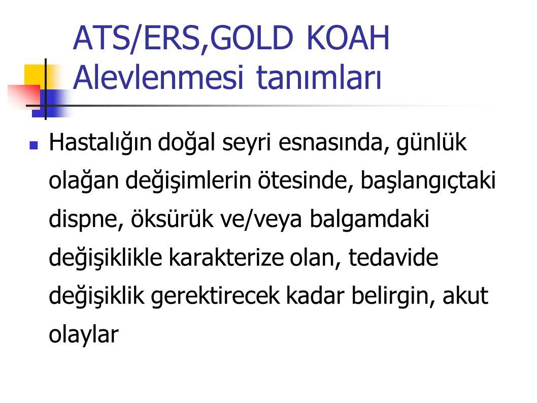 ATS/ERS,GOLD KOAH Alevlenmesi tanımları