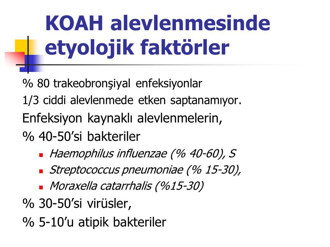 KOAH alevlenmesinde etyolojik faktörler