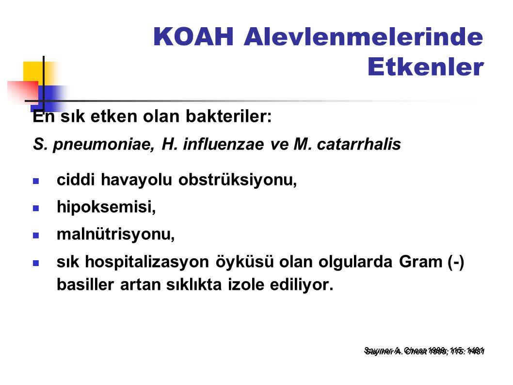 KOAH Alevlenmelerinde Etkenler