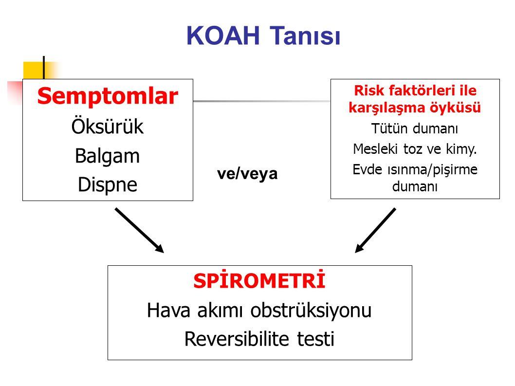 Risk faktörleri ile karşılaşma öyküsü