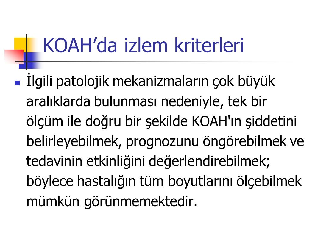 KOAH'da izlem kriterleri