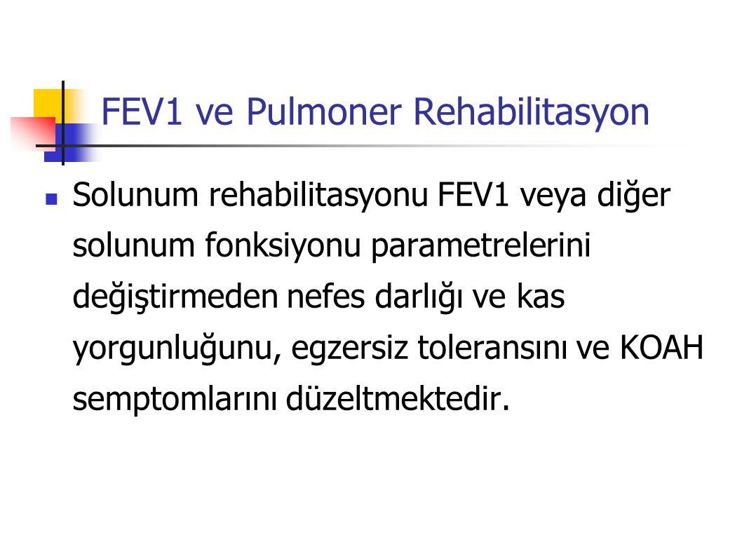 FEV1 ve Pulmoner Rehabilitasyon