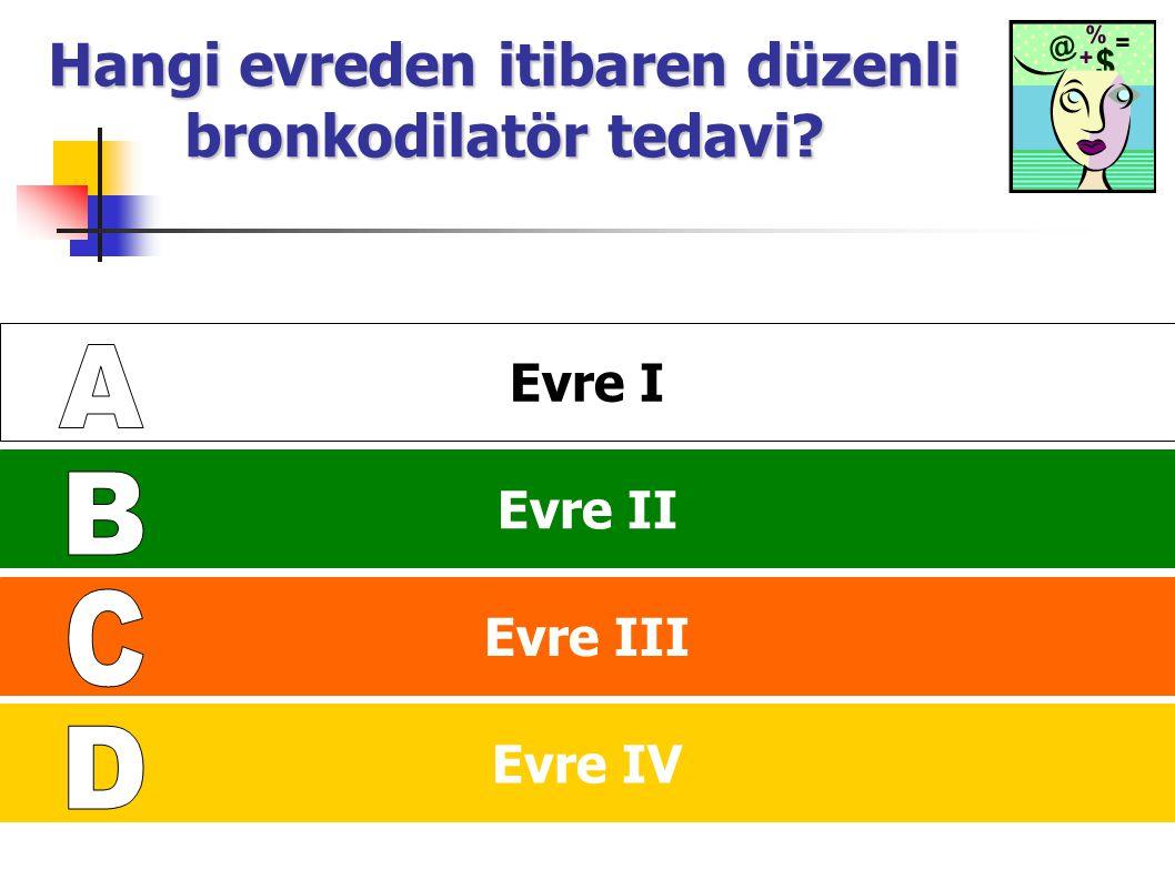 Hangi evreden itibaren düzenli bronkodilatör tedavi