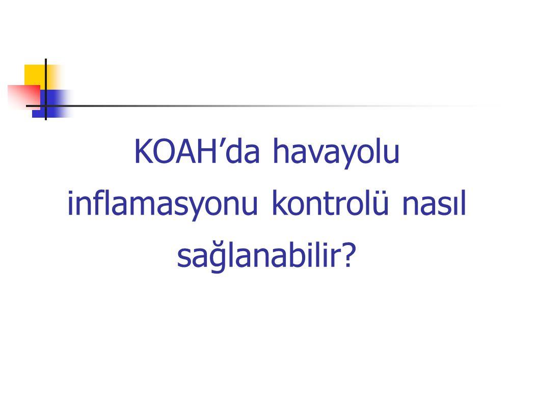 KOAH'da havayolu inflamasyonu kontrolü nasıl sağlanabilir