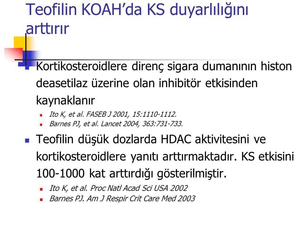 Teofilin KOAH'da KS duyarlılığını arttırır