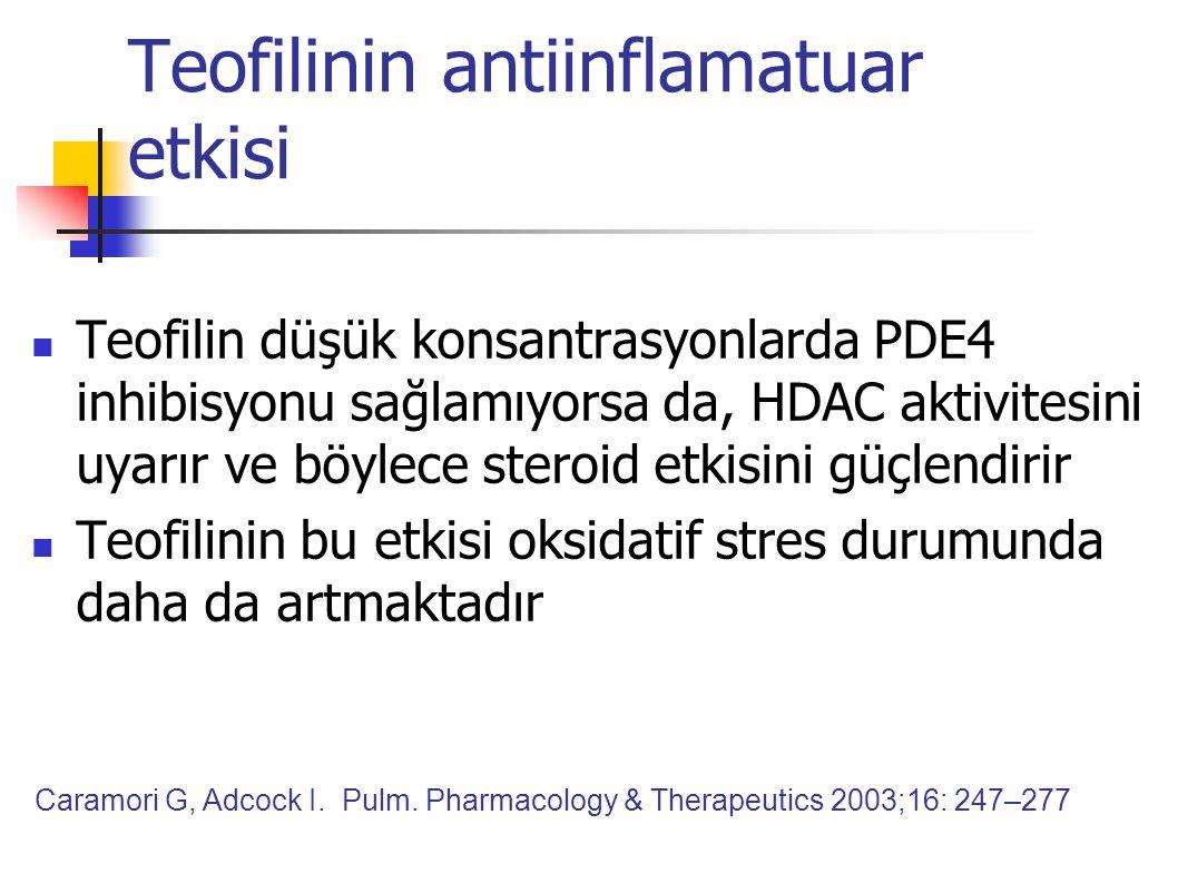 Teofilinin antiinflamatuar etkisi