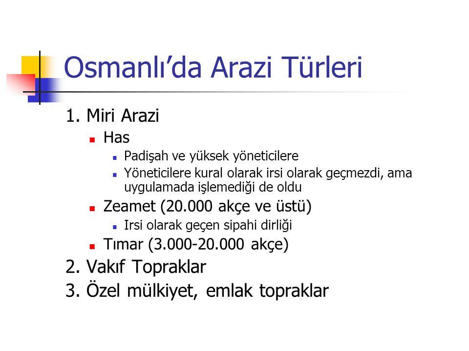 Osmanlı'da Arazi Türleri