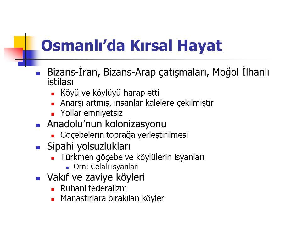 Osmanlı'da Kırsal Hayat